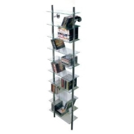 MAXWELL- Wall Mounted Glass CD / Media/ Bathroom Storage Shelves