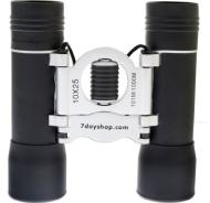7dayshop Binoculars - Compact 10x25 DCF (Black & Silver) - TOP QUALITY GLASS OPTICS
