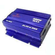 Auna Amplificatore finale auto Hi-Fi car (2 x 30 Watt RMS, 2 canali, connettori RCA placcati dŽoro) blu