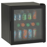 Avanti 1.8 Cu. Ft. Black Beverage Cooler w/ Glass Door