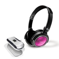 Coby CV18523PNK Jammerz Xtreme Deep Bass Stereo Headphones and Speakers (Pink)