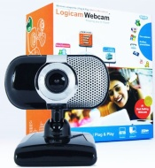 Logicam Webcam, 3.0 Mega Pixels, Excellent Video quality, Built-in Microphone, Plug & Play webcam, No driver or Installation needed, Windows Compatibl