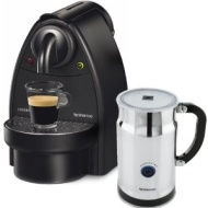 Nespresso C91 Essenza Black Manual Espresso Machine and Aeroccino Automatic Milk Frother Plus