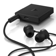 Nokia BH-121 Clip-On Bluetooth Stereo Headset with Noise-Blocking In-Ear Headphones - Black