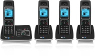 BT 6500 Cordless DECT Phone with Answer Machine and Nuisance Call Blocking (Pack of 4)