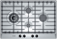 "Bosch PCK755UC 30"" Gas Cooktop with Continuous Grates and Diamond Configuration for Larger Pots"