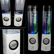 CaseGuru Present The Visual Arts Experience of Dancing Splash Water Fountain LED Speakers for MP3 players/ipods/ipads/Smartphones/Computers/laptops/Ne