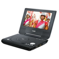 "Coby 7"" Portable DVD/CD/MP3 Player"