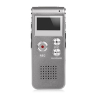 Hayesmall Multifunctional 8GB Digital Audio Voice Recorder Rechargeable Dictaphone Flash Drive LCD Voice Recorder with Stereo Mic MP3 Player for Lectu
