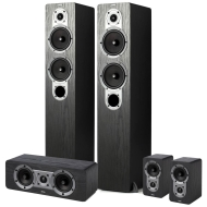 Jamo 5 Piece Home Theater Package, Black Ash