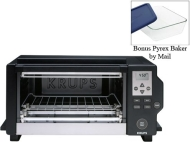 Krups Black Digital Convection Toaster Oven