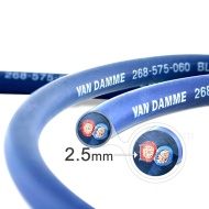 Van Damme Professional Blue Series Studio Grade 2 x 2.5 mm (14AWG) - 6M Speaker Cable