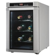 Danby Maitre D 6 Bottle Countertop Wine Cooler - Platinum Stainless steel