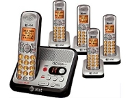 At&t El52500 Dect 6.0 5-handset Cordless Phone W/ Digital Answering System
