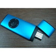 GadgetinBox™ 4GB World Thinest MP3 Player (Blue)
