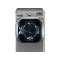 LG 9.0 Cu. Ft. Graphite Steel Front Load Gas Steam Dryer - DLGX8001V