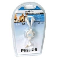 Philips SJM2604 Universal Retractable White Stereo Earbuds