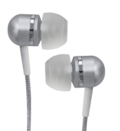 Coby Jammerz Platinum High-Performance Isolation Stereo Earphones CVEM79SVR (Silver)
