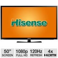 Hisense 50K316DW 50 Class LED 3D Smart HDTV - 1080p, 1920 x 1080, 120Hz, 4x HDMI, Wi-Fi, Opera Web Browser, USB Media Player