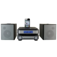 iLive IHP211B Compact CD Player Stereo Home Music System with FM Tuner and Dock for iPhone/iPod