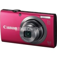 Canon PowerShot A2300 16MP Red Digital Camera 5x Optical Zoom 720p HD Video