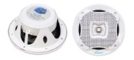 Pyle Lanzar AQ6CXW 400 Watts 6.5-Inch 2-Way Marine Speakers (White)