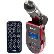 Pyle Mobile SD/USB/MP3 Compatible Player w/ Built-In FM Transmitter (Red)