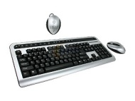 KA14-998B Black&Silver RF Wireless Keyboard w/ Mouse
