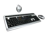 KA14-998B Black&Silver RF Wireless Keyboard w/ Mouse