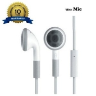 High Tech Computing - Headphones Earphones Handsfree Hands free Kit With Mic for Apple iPhone 4S, 4, 4G, 3GS, 3G, 2G, iPod Nano, Touch 2, 3, 4 and iPa