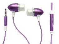 Emartbuy® Purple In Ear Stereo Handfree Headset With Microphone Suitable For Tesco Hudl