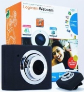 Laptop Webcam, Logicam Webcam Laptop Camera, Skype Webcam, Mini Retractable USB Webcam, Web Camera with Built-in Microphone, Light Weight