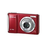 "Olympus X44 14MP, 5x Optical Zoom, Compact Digital Camera, 2.7"" LCD - Red"