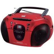 Tamashi CD 158 CBM Tragbarer CD-Player (FM Stereo, Kassettendeck) rot