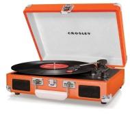 Crosley Cruiser Platine Vinyle tourne disque à 3 vitesses 33/45/78 avec Haut Parleur + Prise Anglaise Orange