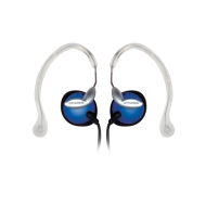 Koss Blue Clipper Lightweight Clip-On Stereophone with In-Line Volume Control