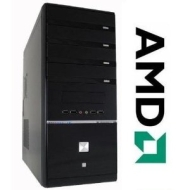 GAMING PC AMD FX6100 Bulldozer Six Core 6x3,3GHz - ASUS Motherboard - 1000GB HDD - 4GB DDR3 (1333 MHz) - DVD Writer - Grafik GeForce GT430 (1024MB-DVI