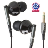 GOgroove BlissBUDS Ergonomic and Noise Isolation Earbuds with Interchangeable Custom Silicon Ear Pieces (4 sizes)