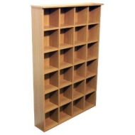 PIGEON HOLE - DVD Blu-ray CD Media Storage Shelves - Oak