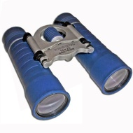 Blue Compact Folding 10x25 Binoculars High Power Magnification Special Anti Glare Fully Coated Optics. Lightweight Alloy Body. Ideal for sport, hiking