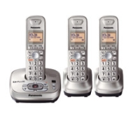 Panasonic® KX-TG4023N DECT 6.0 PLUS Digital 3-Handset Cordless Phone With Digital Answering System, Silver