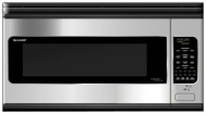 Sharp Smart Carousel R-2130JS - Microwave oven - over-range - 59.5 litres - 1200 W - stainless steel