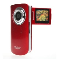 "Vivitar iTwist DVR610 Digital Camcorder with 2ViewScreen (1.8"" Screen, Flip Screen, 2x Digital Zoom, Watch Videos on TV) Black"