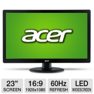"Acer - 23"" Widescreen Flat-Panel LED HD Monitor S230HL ABII"