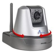 AirLink 101 SkyIPCam777W Wireless Infrared Motion MPEG4 Night Vision Network Camera w/Pan & Tilt Control, Microphone