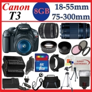 Canon EOS Rebel T3 DSLR Camera w/ 18-55mm Lens II & 70-300mm Telephoto Zoom Pro Kit