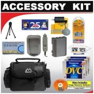 Deluxe DB ROTH Accessory Kit for the Canon ZR950 1.07mp Minidv Camcorder Canon ZR900 MiniDV Camcorder Canon ZR930 1.07MP MiniDV Camcorder