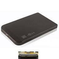 "LUPO 2.5 ""pollici Hard Drive SATA USB 2.0 caso (PC & MAC) - nero"
