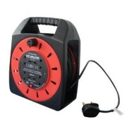 4 Way 25M Extension Cable Reel, 13Amp 230V-240V
