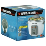 Black & Decker Home Rice Cooker, 3-Cup, 1 rice cooker